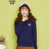 Г-жа Semir Semir Knit (Semir) шею пуловеры письмо свитер знак прямой красный тон белый свитер 14316070013 S