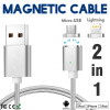 Keymao Magnetic Phone Kabel Data Lightning Charger Cable 2-in-1 Micro USB for iPhone 7 7 plus 6 6s Plus iPad Samsung S6 S7 S8 p keymao magnetic phone kabel data type c micro usb lighting charger cable 3 in 1 for iphone ipad samsung
