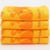Fisher-Price Fischer Детское бамбуковое волокно Полотенце для детской жаккардовой мыльной маски для лица 4 шт. 33 * 66 см Оранжевый