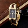 Лучшие бренд роскошные часы из нержавеющей стали золотой браслет женщин Золотой наручные часы бизнес-кварцевые часы