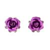 Yoursfs 18k Rose Gold Plated Beautiful Crystal Blue Rose Flower Wedding Stud earrings недорого