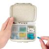Комплект высокого млрд EKOA обновленной версии портативного хранения коробка хлопьев волокна и небольшое аптечке уплотнение Drug разделить основные цвета dean ekoa