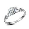 Yoursfs @ Обручальные кольца для подарка женщин-любовников Серебряный цвет ювелирных изделий Кубический цирконий Шармы Кольцо Бижу