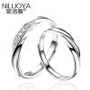 Ni Luoya женщина S925 серебряные ювелирные изделия кольца пара на открытие корейских мужчин и одна пара, чтобы жить на подарок на день рождения одна пара цена кольцо