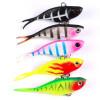 5PC Soft Fishing Lures 6cm-2.36 /15g-0.53oz Мягкая свинцовая приманка 8 # High Carbon Hook 5 цветов Силиконовые воблеры Рыбалка