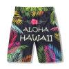 Мужчина спортивные брюки очко скорость сухой мужчин KuCha летний 3D Гавайи приморье серфинг шорты
