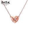 Позолоченная женская цепочка с кулоном в форме сердечка из стерлингового серебра 925 пробы Cheng Centennial