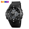 SKMEI Sports Watches Men 50M Waterproof Chronograph Date Alarm Multifunction Watch F Dual Display Wristwatches 1198 skmei kids sports watches children for girls boys waterproof military dual display wristwatches led waterproof watch 1163