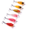 1PC Cicada Bass Baits 4cm-1.57 /4.15g-0.15oz Crank Fishing Lure Япония Topwater 3D Eyes Hard Swim Bait 6 цветов Lifelike Wobbler