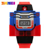 SKMEI Kids LED Digital Children Watch Cartoon Sports Watches Relogio Robot Transformation Toys Boys Wristwatches 1095 children watch led digital sports relojes mujer boys girls fashion kids cartoon jelly relogio feminino wristwatches pinbo