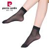 Пьер Кардин чулки 12 двухслойных 15D кристально чистый прохладный шелк два костлявых носка черный униформа вяжем два носка одновременно спицы