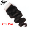 Nami Hair Brazilian Body Wave Virgin Hair Lace Closure 4x4 Free Middle Three Part 8-20 100% Human Hair Free Shipping