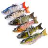 1pc Приманка для купания 6 Цветные рыболовные приманки Рыболовные снасти 8.5cm-3.35 /10.8g-0.38oz Приманка для рыбалки