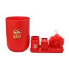 [Хорошо] Бого Jingdong супермаркета Чашка мыльница ванна цветочная ванна с промывочной бен лотком 6 комплектов праздничного красного
