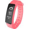 Полный сенсорный QCT-W2 умный браслет умный запястье шагомер педаль вызова напоминания микро-подсказки сенсорный экран спорта здравоохранения браслет розовый
