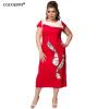Cocoepps женщин лоскутное плюс Размеры платье 2017 элегантные женские офисные платья