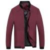 Battlefield Jeep мужские случайные короткие рубашки куртки бейсбола куртки воротник мужской моды Тонкий Мужчины куртка 17121Z7007 бордовый 4XL