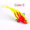 1PC Soft Fishing Lures 6.8cm-2.68 /9.36g-0.33oz Мягкая свинцовая приманка 8 # High Carbon Hook 6 цветов Силиконовые воблеры