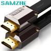 Shanze (SAMZHE) HDMI кабель версии 2.0 2K * 4K цифровой высокой четкости тонкая линия 1 м позолоченными плоский кабель 3D видеопроектор компьютер кабельное телевидение телеприставку GH-10 shanze samzhe sz 3200 классический deluxe edition hdmi кабель цифровой высокой четкости 2 м