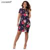 COCOEPPS Summer Floral Print Women Dress 2017 Vintage Elegant Femme Платья Большие размеры Женские платья женское платье summer dress 2015cute o women dress