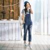 Инь Человек (ИНМАН) 2017 Hitz джинсы женские прямые джинсы джинсовые длинные брюки, джинсовые синие комбинезоны 1861336467 M прямые широкие женские зимние брюки