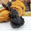 Черный Будда Сутра Дерево Резьба Сутра Брелок Брелок Амулет Вуд Колонка Брелок брелок