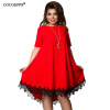 Cocoepps женщин большой Размеры лоскутное платье с кисточками 2017 случайные свободные плюс Размеры женской одежды 6XL Vestidos