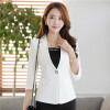 Women 3/4 Sleeve Blazer Spring Autumn Wear to Work Office Outwear Jacket Slim Single Button blaser femenino 2017