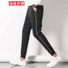Бойцовские брюки с джип-брюками Мужские повседневные брюки Комфортные спортивные штаны Ноги Брюки Брюки Мужские 17095ZTX707 Черный XL