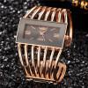 Роскошные золотые часы Женские кварцевые стальные наручные часы Повседневные женские наручные часы Женские часы
