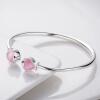 Семь градусов (SEVEN СТЕПЕНЬ) серебряный браслет женских моделей розовый имитация опал браслет моды открытие прекрасный серебряный браслет, чтобы отправить его подруга доставку подарочный сертификат