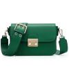 Чучело (МЕКСИКАН) женская сумка сумка женская широкая плечевая ремешка пряжка наклонная маленькая квадратная упаковка MLF70618L-06 темно-зеленый сумка женская