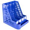 Гуанбо (GuangBo) толстый четырехстрочный файловый фрейм / рамка данных с держателем для ручки / канцелярские принадлежности синий WJK9267-L корейский канцелярские канцелярские акварель ручка гелевые ручки комплект 10шт цвет kandelia