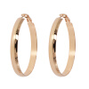 Yoursfs@ Round Earrings Basketball Wives Trendy  Gold Plating Fashion Jewelry Wholesale Diameter Large Hoop Earrings Women