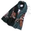 2017 года новая мода летом пляж шарфы сова женщин шелковый шарф сине - зеленые черный вайолет мило cappa от загара voile шаль