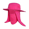 Feilai Ши FEIRSH съемными против ветра рыбалка шляпы на открытом воздухе мужчин и женщин против комаров ВС шляпу рыболова Hat охватывающих ее лицо розовый шляпа шляпа Alpine FJ06