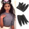 yyong волосы компании бразильских глубокую волна 4 связки, 8-30 дюйма по продаже сырой и вьющиеся волосы 4 пачки дешевых виргински