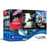 Sony (SONY) [хозяин] Госбанк PS4 PlayStation 4 игровой консоли шедевр костюм 500GB (белый) с четырьмя играми sony playstation 4 camera ps4 psvr