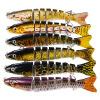 1pc 8 секций Приманки для рыбалки 12.5cm-5 /0.664oz-18.83g Swimbait Fishing bait 6 # Black Hook Fishing Sackle
