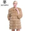 SARSALLYA Шубы из натурального песец шуба натуральная лисицы одежда шуба норковая песец жилетка цельная натуральная шуба с длинным шубы
