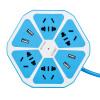 Jishun (Jishun) JSW-6J 1,8 м 4 Биты 5 отверстий с четыре USB смарта гнездом творческого выхода гнездо лимона фруктовой Розеткой полоса пластиной голубой jishun jsw 1005 1 8 м 5 портов синий розетка