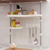 Run Europe Чжэ нержавеющей многофункциональный стойку вертикально регулируемый подвесной кухонный шкаф для хранения