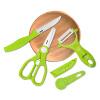 Шу Ин (Enssu) детей пищевая добавка ножницы керамическая посуда ансамбль детской ребенка пищевая добавка ножницы новорожденных детское питание ножницы ES3001 детское питание