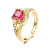 Yoursfs@ Gorgeous 18K Rose Gold Plated Shinning zircon Ring for Wedding metal ring holder for smartphones rose gold