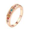 Yoursfs@ Eternity Women Crystal 18k  Gold Plated Bridal Promise Ring nada eternity
