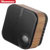 Newman (Newsmy) L63 стильной деревянных радио колонки стерео FM-радио престарелой перезаряжаемый портативного MP3-плеер беспроводной мини-карта Bluetooth телефон черный портативные колонки с fm радио