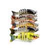 1PC Новые 6 секций Приманка для рыбной ловли 0.08oz-2.35g / 5cm-1.97 «Приманка для рыбалки с приманкой 12 # Черный крючок для рыбалки бот для рыбалки archeage