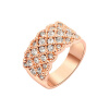 Yoursfs@ 18K Rose Gold Plated Women Queen Band Ring Shiny Pave zircon Rings Wedding Fashion Jewelry yoursfs 18k rose white gold plated letter best mum heart necklace chain best mother s day gift