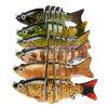 1PC Новые 6 секций Приманка для рыбалки 9cm / 3.8 -0.38oz / 10.68g Приманка для рыбалки для рыбалки 6 # Черный крючок для рыбалки товары для рыбалки