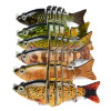 1PC Новые 6 секций Приманка для рыбалки 9cm / 3.8 -0.38oz / 10.68g Приманка для рыбалки для рыбалки 6 # Черный крючок для рыбалки